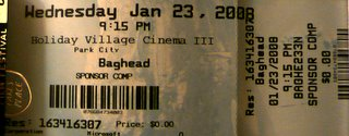 Baghead Ticket — Front