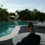 Foot At Poolside