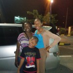 Juliah with Neriesha and Kevin