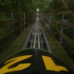 Speeding down the Jamaican Bobsled Ride