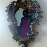 The famous mirror where you can look for Annie Palmer's ghost